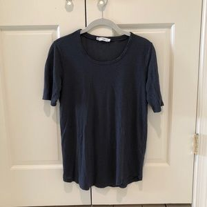 Navy Vince Loose Fitting Tee